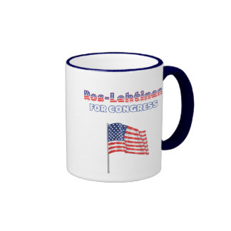 Ros-Lehtinen for Congress Patriotic American Flag Ringer Mug
