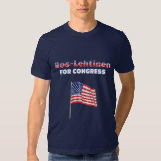 Ros-Lehtinen for Congress Patriotic American Flag Tee Shirt