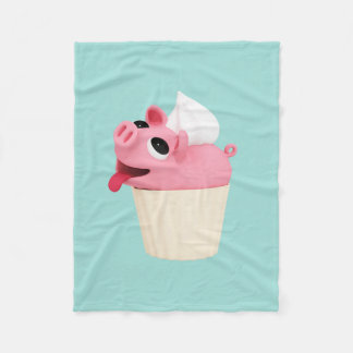 Rosa are a cup cake fleece blanket