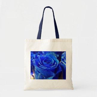 Rosa azul bolsas lienzo