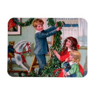 Rosa C. Petherick: Christmas Decorations Rectangular Photo Magnet