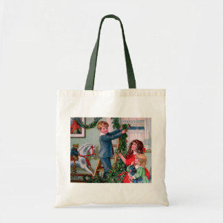 Rosa C. Petherick: Christmas Decorations Budget Tote Bag