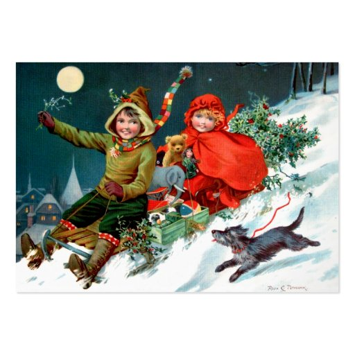 Rosa C. Petherick: Christmas Shopping Business Card Templates