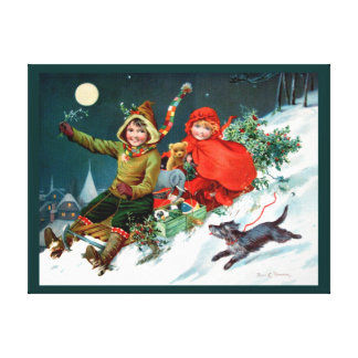 Rosa C. Petherick: Christmas Shopping Canvas Print