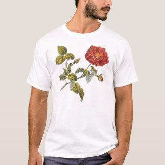 Rosa Gallica Beautiful Red Antique Vintage Rose T-Shirt