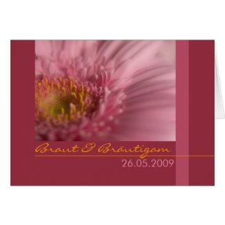Rosa Gerbera • Hochzeitseinladung Greeting Card