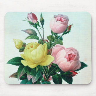 Rosa Lutea and Rosa Indica Mouse Mat