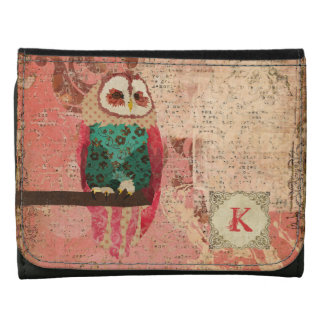 Rosa Monogram Owl Wallet