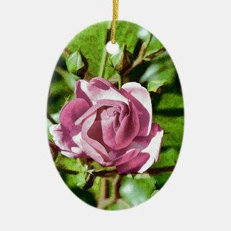 Rosa Rose, Nature Ceramic Oval Decoration