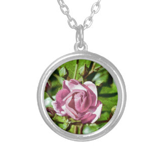 Rosa Rose, Nature Round Pendant Necklace
