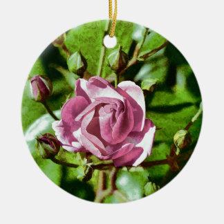 Rosa Rose, Nature Round Ceramic Decoration