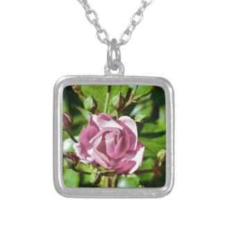 Rosa Rose, Nature Square Pendant Necklace