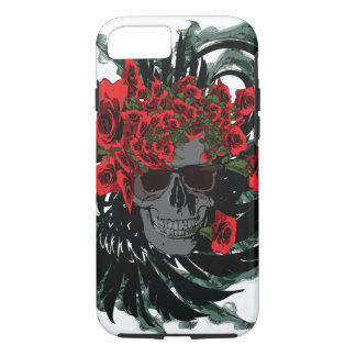 Rosa skull art Case-Mate Tough iPhone 7 Case