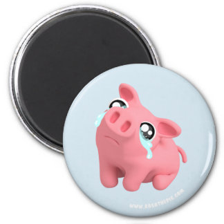 Rosa the Pig are Sad Magnet