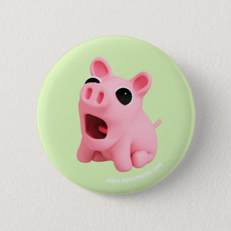 Rosa the Pig are Shocked 6 Cm Round Badge