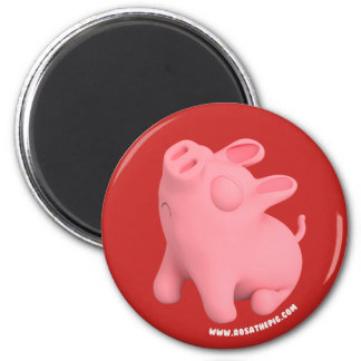 Rosa the Pig are Sno 6 Cm Round Magnet