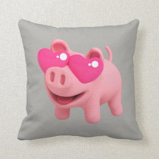 Rosa the Pig Love Eyes Cushion