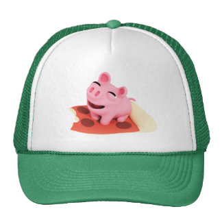 Rosa the Pig Love pizza Cap