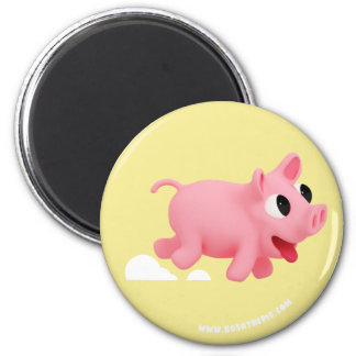 Rosa the Pig love Running Magnet