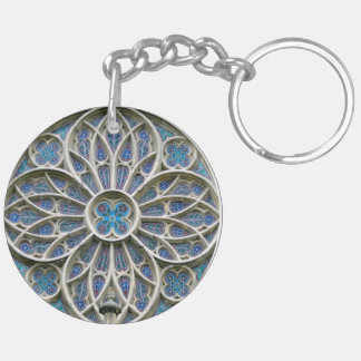 Rosace Gothic vrsac church rosette serbia cathedra Key Ring