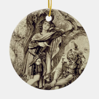 Rosalind and Touchstone, Act III Scene 2, in As Yo Christmas Ornament