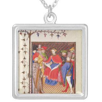 Rosane replies to the envoys from the people silver plated necklace