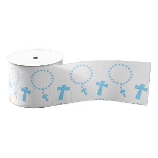 Rosary beads grosgrain ribbon