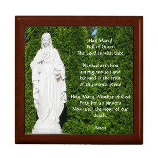 Rosary Box with Hail Mary Prayer Large Square Gift Box
