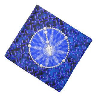 Rosary Dream Catcher Blue Kerchiefs