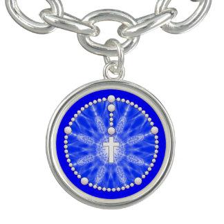 Rosary Dream Catcher Blue Charm Bracelet