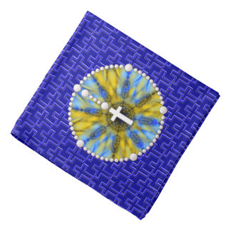 Rosary Dream Catcher Blue & Yellow Bandannas