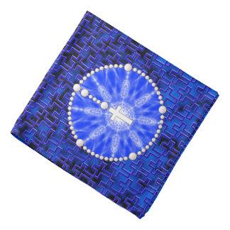 Rosary Dream Catcher Blue Bandanna
