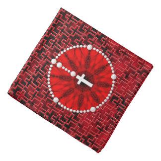 Rosary Dream Catcher Red Bandana