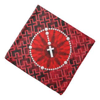 Rosary Dream Catcher Red Kerchief