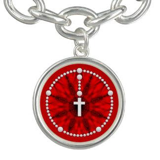 Rosary Dream Catcher Red Charm Bracelets