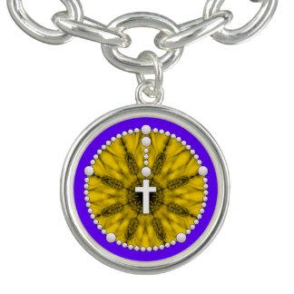 Rosary Dream Catcher Yellow