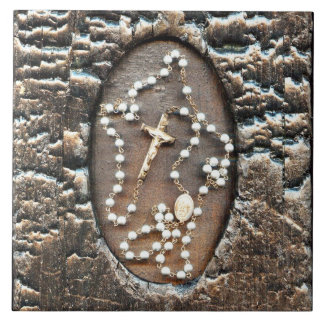 Rosary Large Square Tile