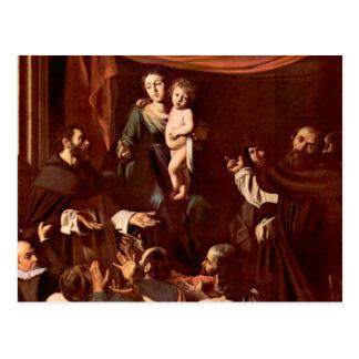 Rosary Madonna by Caravaggio Postcard