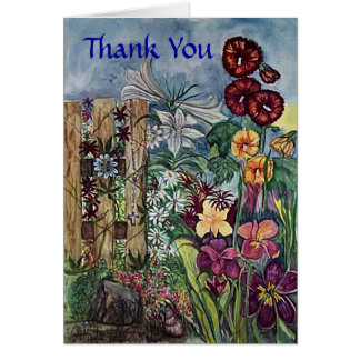Rosary Prayer Garden Thank You Card