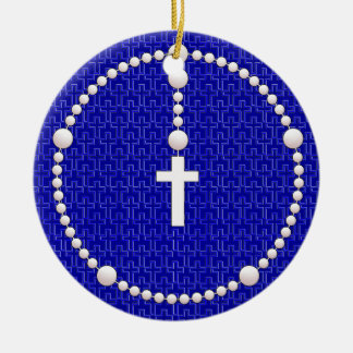 Rosary with Cross Pattern Christmas Ornament