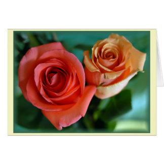 """Rosas Rosadas"" Greeting Card"