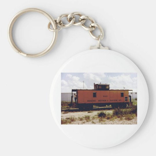 Roscoe, Snyder and Pacific Basic Round Button Key Ring