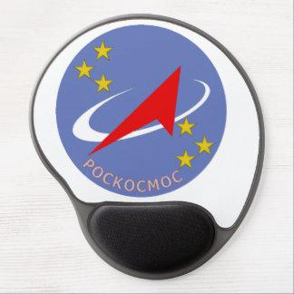 Roscosmos Flight Logo Round Gel Mouse Mats