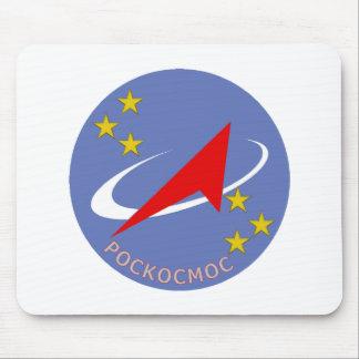 Roscosmos Flight Logo Round Mouse Pad