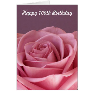 Rose 100th Birthday Card