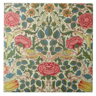 'Rose', 1883 (printed cotton) Large Square Tile