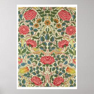 Rose 1883 printed cotton poster