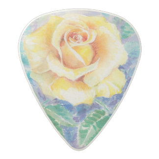 Rose 2 acetal guitar pick