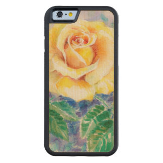 Rose 2 carved maple iPhone 6 bumper case
