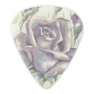 Rose 3 acetal guitar pick